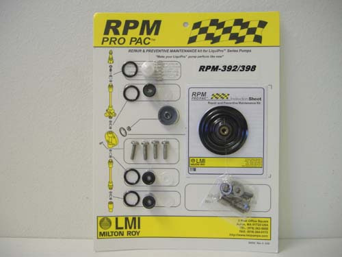 RPM 392 Pro Pac Rebuild Kit for LMI Pump Liquid End