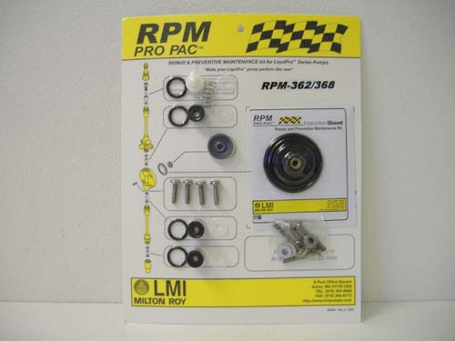 RPM 362 Pro Pac Rebuild Kit for LMI Pump Liquid End